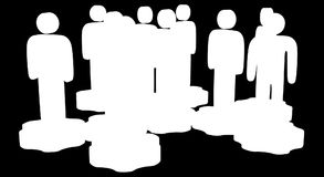 Сыгранность Группа в составе стилизованная стойка людей на шестернях иллюстрация штока