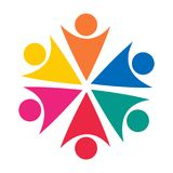 Сыгранность икона логос Концепция Значок вектора работы команды Стоковые Изображения