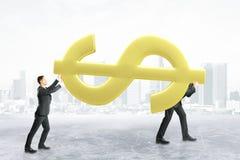 Сыгранность и финансовая концепция роста иллюстрация штока