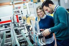 Сыгранность класса робототехники инженерства стоковые изображения rf