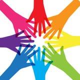 Сыгранность, община, концепция социального дизайна плоская Стоковые Фотографии RF
