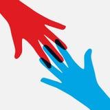 Сыгранность, община, концепция социального дизайна плоская Стоковое Изображение