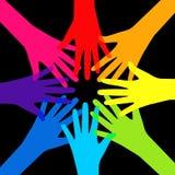 Сыгранность, община, концепция социального дизайна плоская Стоковое Фото