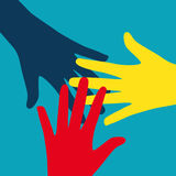 Сыгранность, община, концепция социального дизайна плоская Стоковые Изображения RF