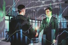 Сыгранность, партнерство и концепция финансов стоковые изображения rf
