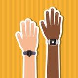 Сыгранность с человеческим дизайном руки, иллюстрацией вектора Стоковая Фотография RF