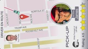 Сымитированная езда деля экран App для Smartphone бесплатная иллюстрация