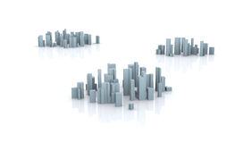 сымитированный город иллюстрация штока