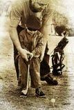 сынок игры гольфа отца