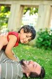 сынок отца совместно Стоковое Фото