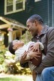 сынок отца счастливый Стоковое фото RF