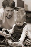 сынок отца Стоковое фото RF