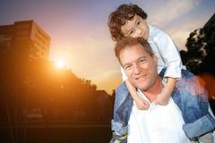 сынок отца Стоковая Фотография RF