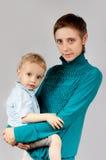 сынок портрета мати Стоковое Фото