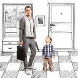 Сын отца и младенца Стоковые Фото