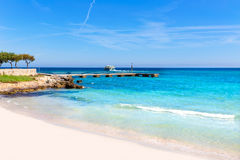 Сын Servera Мальорка пляжа Майорки Cala Millor Стоковые Изображения RF
