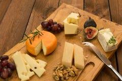Сырная доска с плодоовощ и травами Стоковое Изображение
