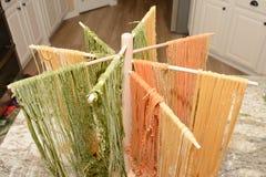 Сырое тесто макаронных изделий и хлеба Стоковые Изображения RF
