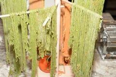 Сырое тесто макаронных изделий и хлеба Стоковое Фото
