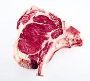 Сырой стейк говядины de boeuf Коута для BBQ Стоковая Фотография
