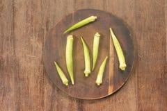Сырцовая бамия 7 Стоковое Фото