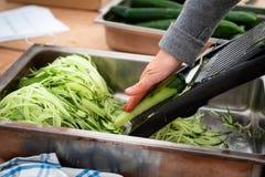 Сырцовая подготовка еды Стоковые Изображения RF