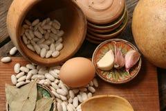 Сырцовая еда - деревенская сцена Стоковые Изображения RF
