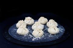 Сырцовая испаренная китайская плюшка Стоковое Изображение