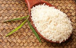 сырцовая ложка риса Стоковая Фотография