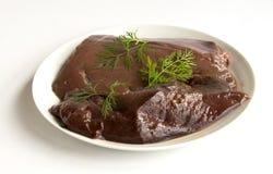 Сырцовая печень говядины Стоковые Изображения RF