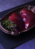 Сырцовая печень говядины Стоковое Изображение