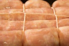 Сырцовая сосиска цыпленка стоковая фотография