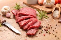Сырцовая часть говядины стоковая фотография rf