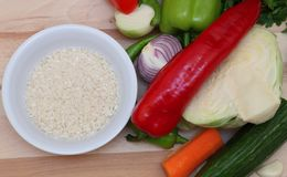 сырцовое еды здоровое Стоковое Фото