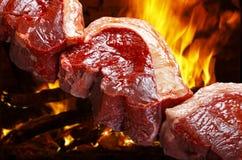 Сырцовое мясо барбекю Стоковое фото RF