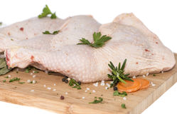 Сырцовое мясо цыпленка (на белизне) Стоковая Фотография