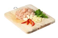 Сырцовое мясо цыпленка стоковое изображение rf