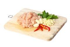 Сырцовое мясо цыпленка стоковое изображение