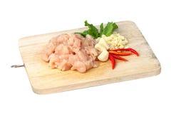 Сырцовое мясо цыпленка стоковое фото