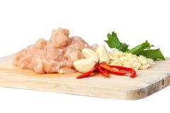 Сырцовое мясо цыпленка Стоковые Фотографии RF