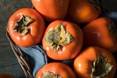 Сырцовое органическое оранжевое Perssimons Стоковое фото RF
