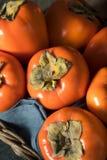 Сырцовое органическое оранжевое Perssimons Стоковое Изображение