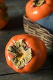 Сырцовое органическое оранжевое Perssimons Стоковые Изображения