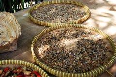 Сырцовое семя кофе перед обрабатывать стоковые изображения rf
