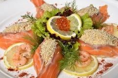 Сырцовое salmon филе рыб Стоковые Изображения
