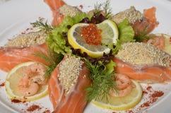 Сырцовое salmon филе рыб Стоковые Фотографии RF