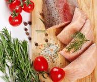 Сырцовое salmon филе Стоковые Изображения