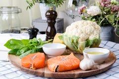 Сырцовые здоровые dieting продукты Стоковые Фото