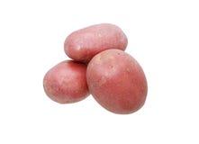 Сырцовые картошки на белизне Стоковые Изображения RF