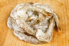 Сырцовые, который слезли креветки или креветки Стоковая Фотография